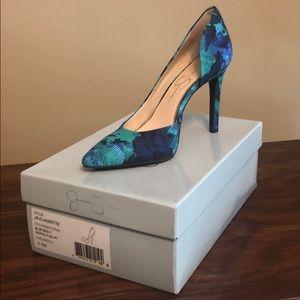 Jessica Simpson Claudette Print Heel Size 6.5
